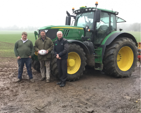 Winners - Tim & David Derricutt with Paul Morris TAG Area Sales Manager