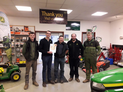 Members of our Bibury Ag Service Team receiving the award