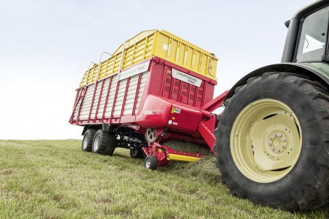 Ideal forage collection using Pottinger's range of silage wagons can provide optimum length of chop for better rumination.