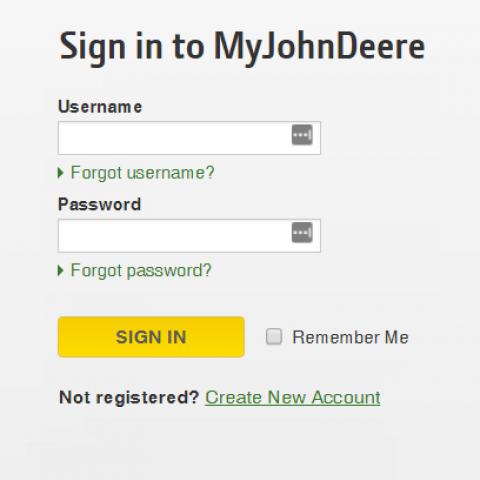 my John Deere parts login